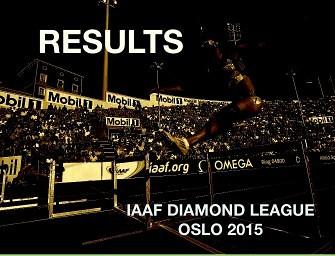 Results – IAAF Diamond League Oslo 2015
