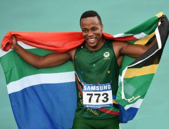 Simbine lowers SA 100m record to 9.96 in Pretoria
