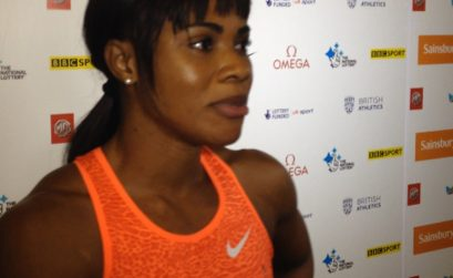 Blessing Okagbare - Ighoteguonor at the London Anniversary Games 2015 / Photo Credit: Yomi Omogbeja - AthleticsAfrica.com