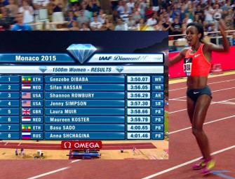 Genzebe Dibaba shatters 1500m World Record in Monaco