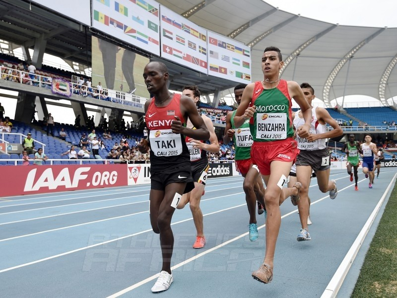 Kumari Taki of Kenya in action during round one of the Boys 1500m on day one of the IAAF World Youth Championships Cali 2015 on July 15, 2015 at the Pascual Guerrero Olympic Stadium in Cali, Colombia. (Photo by Buda Mendes/Getty Images for IAAF)