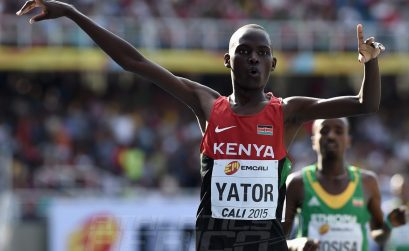 Richard Yator Kimunyan of Kenya in action during the mens 3000m Final on day five of the IAAF World Youth Championships, Cali 2015 on July 19, 2015 in Cali, Colombia. (Photo by Buda Mendes/Getty Images for IAAF)
