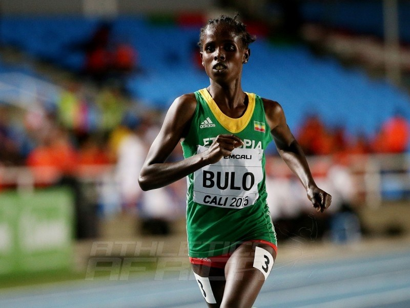 Shuru Bulo of Ethiopia, in action during the Girls 3000 Meters Final on day one of the IAAF World Youth Championships, Cali 2015 on July 15, 2015 at the Pascual Guerrero Olympic Stadium in Cali, Colombia. (Photo by Patrick Smith/Getty Images for IAAF)