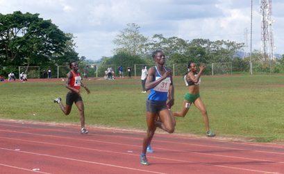 Nigeria's Tosin Adeloye winning the women's 400m in Akure / Photo credit: Making of Champions