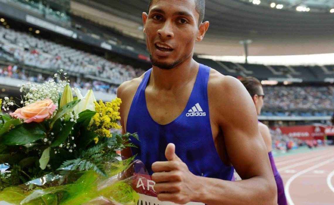 Wayde van Niekerk after winning at the Meeting Areva on July 4 / Photo Credit: © Jiro Mochizuki / Giancarlo Colombo