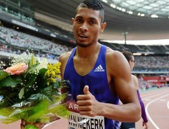 Van Niekerk lands historic sprinting mark in Bloemfontein