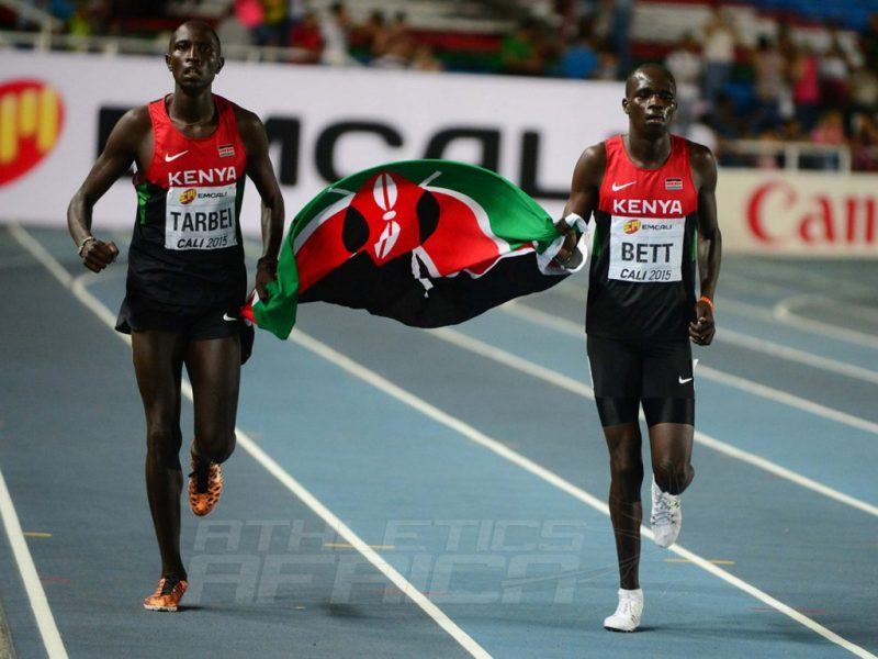 Willy Tarbei and Kipyegon Bett at the IAAF World Youth Championships, Cali 2015 / Photo Credit: Getty Images for the IAAF