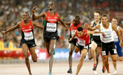 Asbel Kiprop wins Kenya's 7th Gold medal at the IAAF World Championships in Beijing 2015 / Photo credit: Getty images for the IAAF