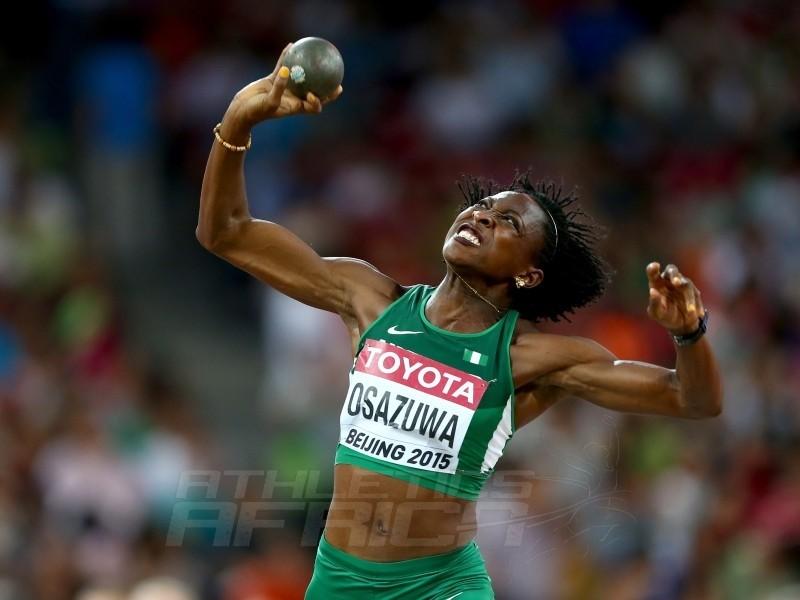 Nigeria's Uhunoma Naomi Osazuwa at IAAF World Championships in Athletics in Beijing, China.