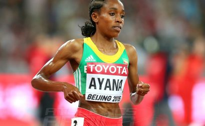 Almaz Ayana of Ethiopia during the women's 5000m race in Beijing / Photo credits: Getty Images for the IAAF