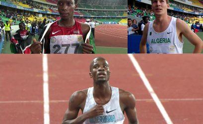 Day 4 podium finishers - Brazzaville 2015
