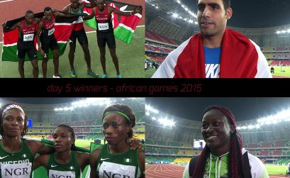 Some of the Day 5 winners at the 11th African Games in Brazzaville, Congo.