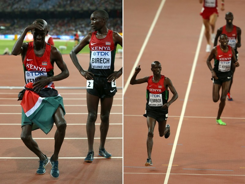Ezekiel Kemboi on day three of the 15th IAAF World Athletics Championships Beijing 2015 on August 24, 2015 / Photo credit: Getty Images for the IAAF