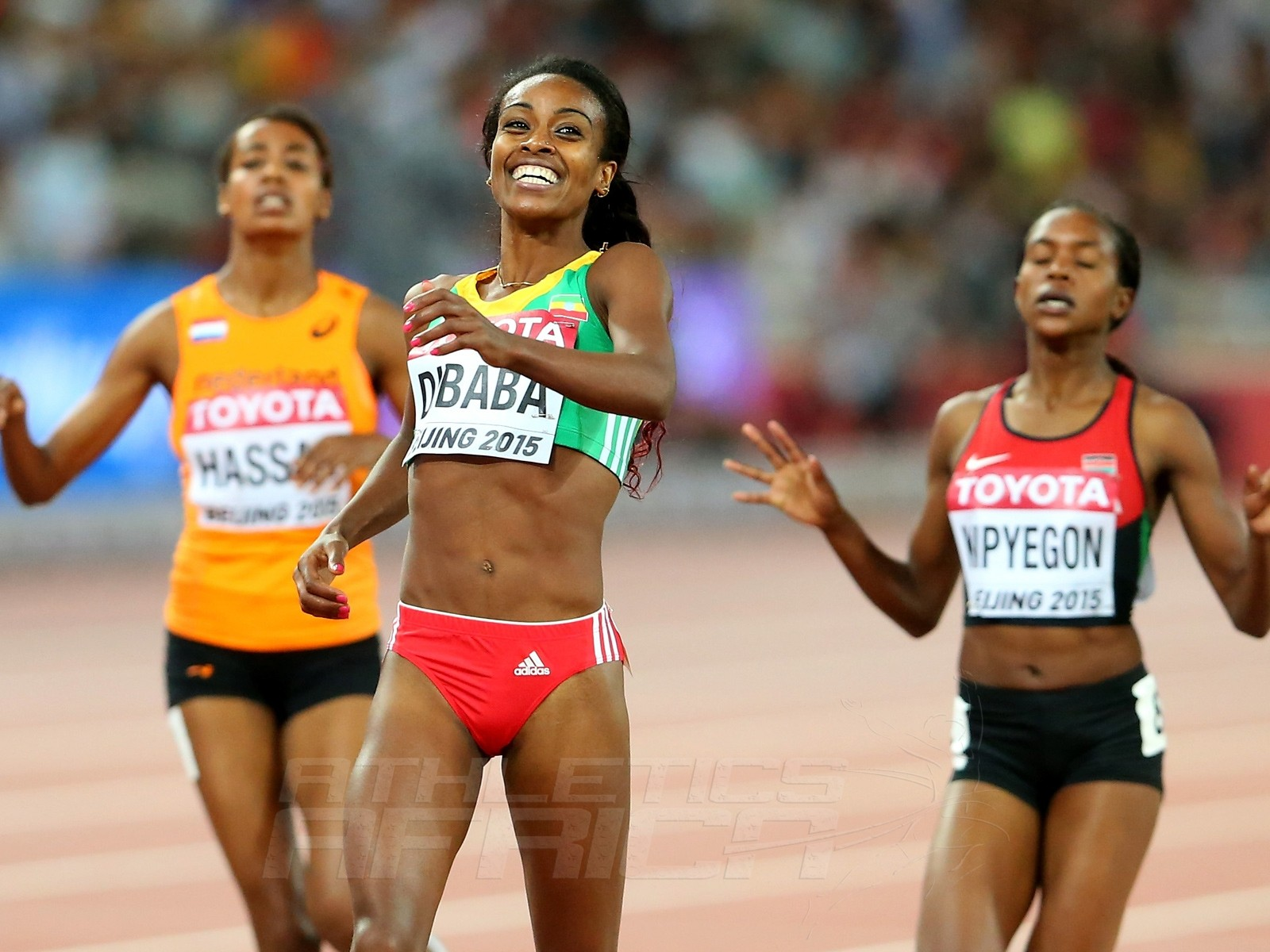 Women's 1500m final on Day 4 at the 2015 IAAF World Championships in Beijing, China / Photo credit: Getty Images for the IAAF