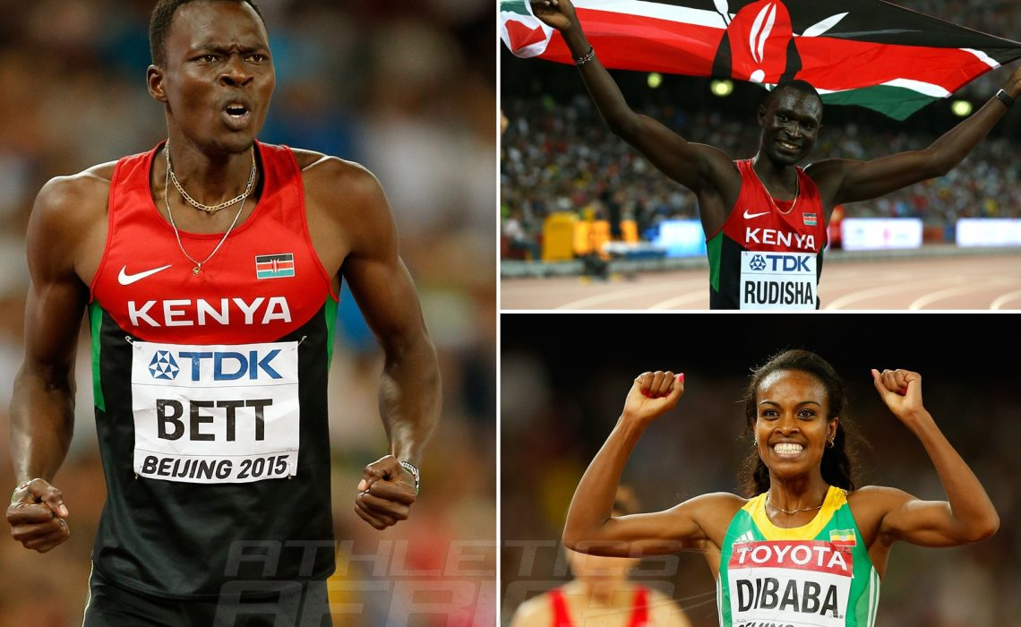 African winners on Day 4 at the 2015 IAAF World Championships in Beijing, China / Photo credit: Getty Images for the IAAF