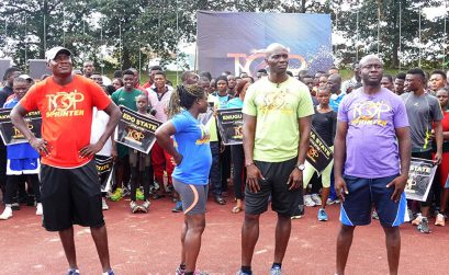 Nigeria's Olympic Medallists Deji Aliu, Glory Alozie, Uchenna Emedolu and Francis Obikwelu presented as Judges for the Top Sprinter Genesis auditions / Photo: MOC