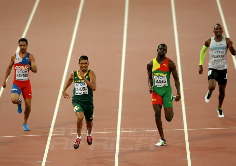 Wayde van Niekerk of South Africa winning the men's 400m on day 5 at the 2015 IAAF World Championships in Beijing, China / Photo credits: Getty Images for the IAAF