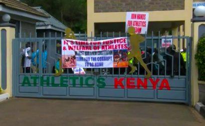 Kenyan athletes storm Athletics Kenya HQ in protest against corruption
