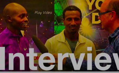 Ethiopian Sisay Lemma Kasaye and Kenyan Micah Kogo