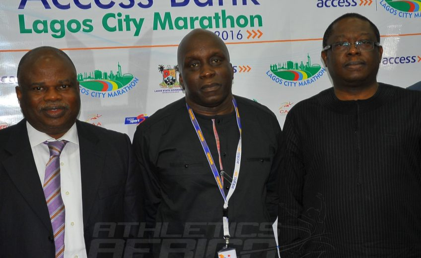 L-R: AFN President Solomon Ogba, Deji Tinubu, and Executive Director Personal Banking of Access Bank, Mr Victor Etuokwu / Photo credit: Tunde Eludini