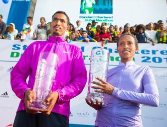 Tsegaye, Abera lead Ethiopian sweep of Dubai Marathon 2016