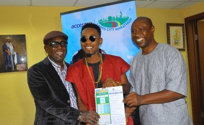 Nigeria dance-hall artiste Patrick Nnaemeka Okorie a.k.a Patoranking is the latest celebrity to sign on for the 2016 Access Bank Lagos City Marathon/Photo: Organisers