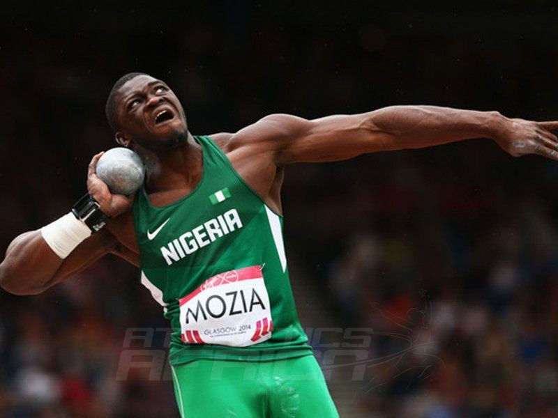 Mozia, a mechanical engineering graduate from Cornell University in New York, holds the Nigerian indoor and outdoor Shot put records / Photo Credit: Reuters