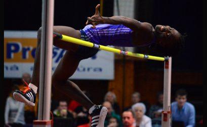 Nigeria's Doreen Amata soaring to new Nigerian record of 1.93m at the Banskobystrická latka 2016, Banská Bystrica, 4 Februay, 2016 / Photo credit: SITA/Jakub Julény