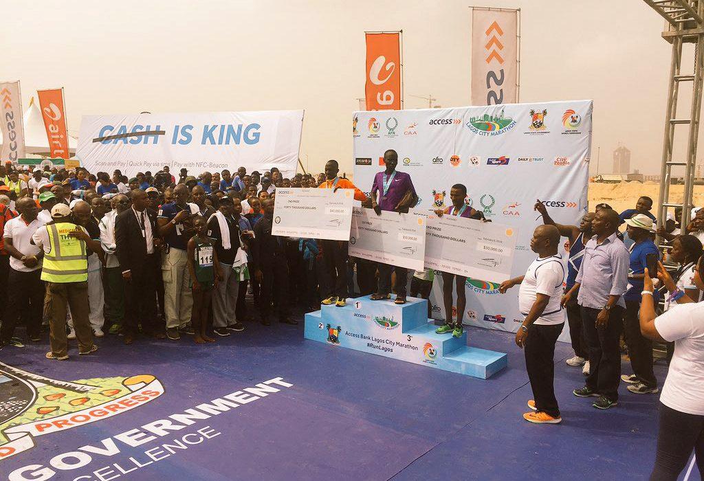 Lagos Marathon 2016 podium