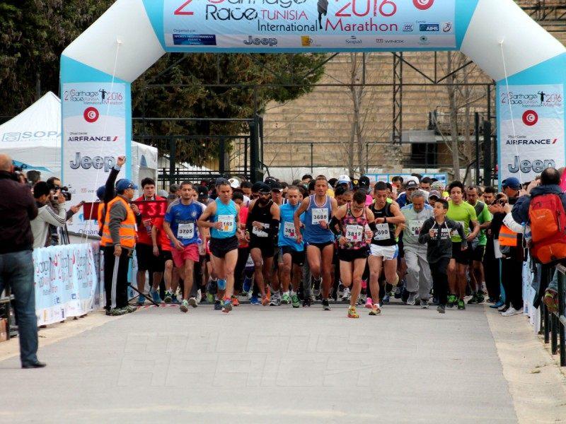 The 2nd edition of the Carthage International Marathon Race / Photos Credit: Christian Deleru