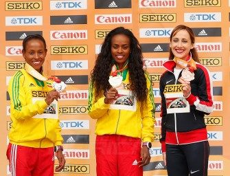 Dibaba and Kejelcha deliver 3000m titles for Ethiopia at Portland 2016