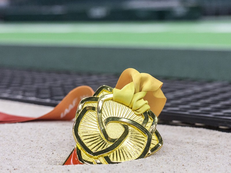 The Gold medal in contention at the IAAF World Indoors - PORTLAND 2016