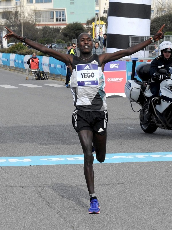 Kenya's Solomon Kirwa Yego wins at the 42nd edition of the famous Roma-Ostia Half Marathon