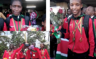 Team Kenya at 4th edition of the African Cross Country Championship in Yaounde, Cameroon, on Saturday