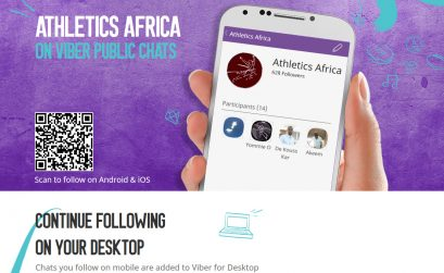AthleticsAfrica Viber Public Chats channel promo