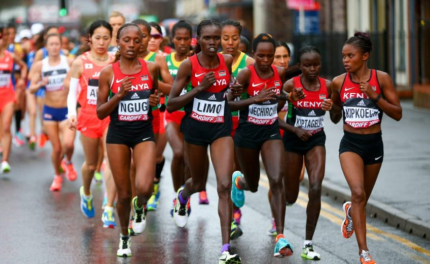 Women's race during the IAAF/Cardiff University World Half Marathon Championships on March 26, 2016 in Cardiff, Wales (Photo by Jordan Mansfield/Getty Images for IAAF)