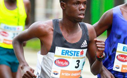 Robert Chemosin winning in Vienna marathon 2016 / Photo credit: www.photorun.net