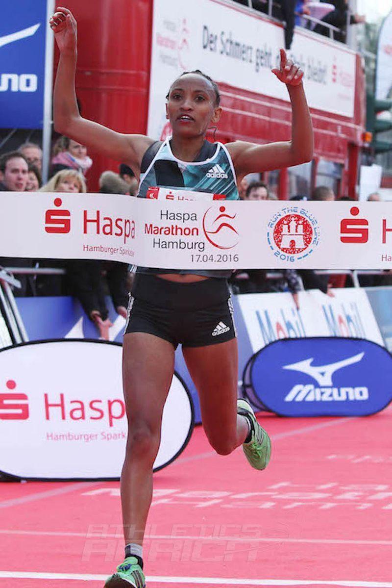 Meselech Melkamu / Photo Credit: Haspa Marathon Hamburg / Hochzwei