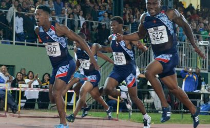 Henricho Bruintjies pulled off the victory in 10.17, with Akani Simbine second in 10.21