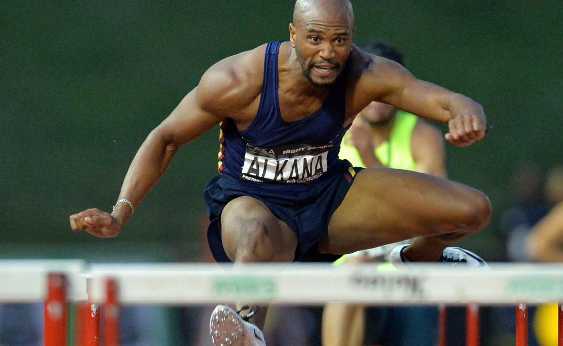 Antonio Alkana in the mens 110m hurdles during the ASA Night Series in Pretoria March 2016 / Photo: ASA