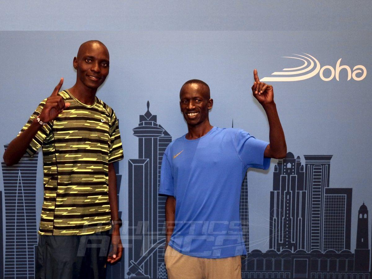 Kenyan athletes Asbel Kiprop and Ezekiel Kemboi at the Doha Diamond League, QATAR - May 05, 2016 / Photo Credit: Angelos Zymaras