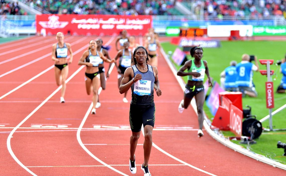 Caster Semenya from South Africa at the 2016 IAAF Diamond League in Rabat / Photo Credit: IDL