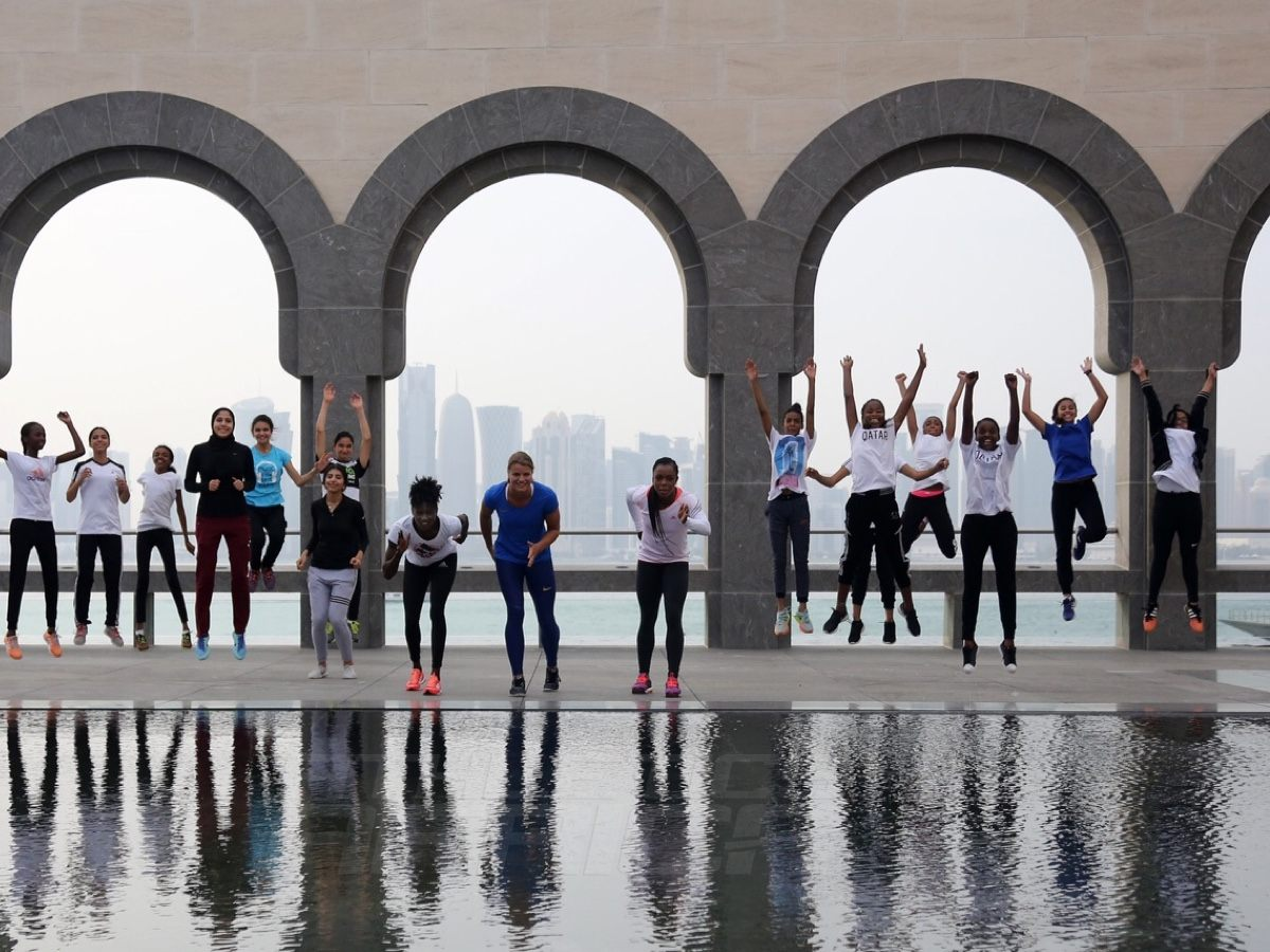 Sprinters at Museum of Islamic Arts in Doha