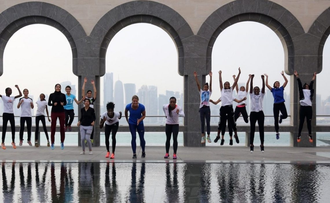 Sprinters at Museum of Islamic Arts in Doha, Photo credit: Angelos Zymaras