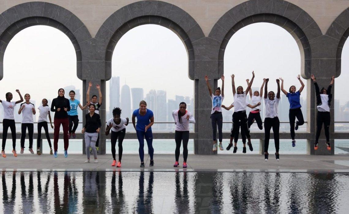 Sprinters at Museum of Islamic Arts in Doha, Photo credit: Angelos Zymaras
