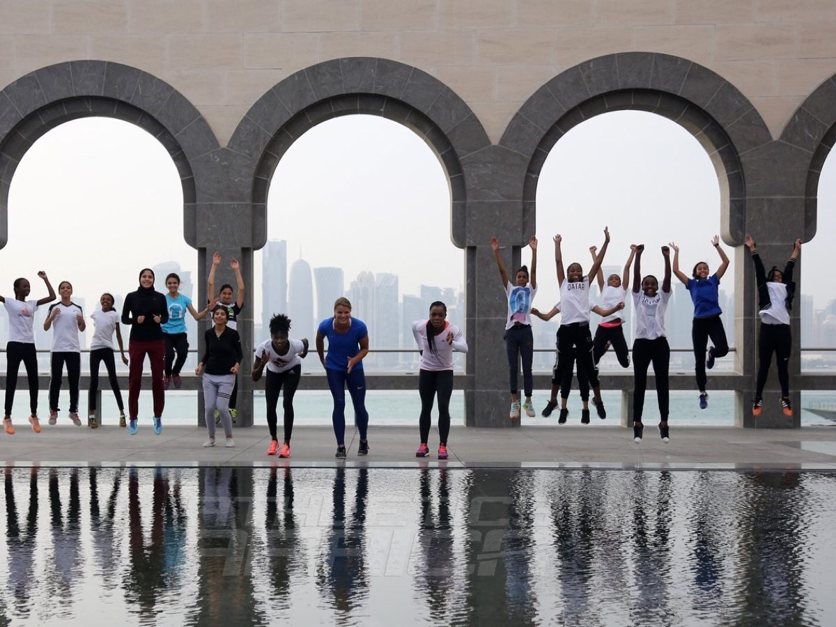 Sprint stars at Doha's landmark Museum of Islamic Art