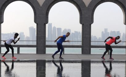 Sprinters at Museum of Islamic Arts in Doha, Qatar / Photo credit: Angelos Zymaras