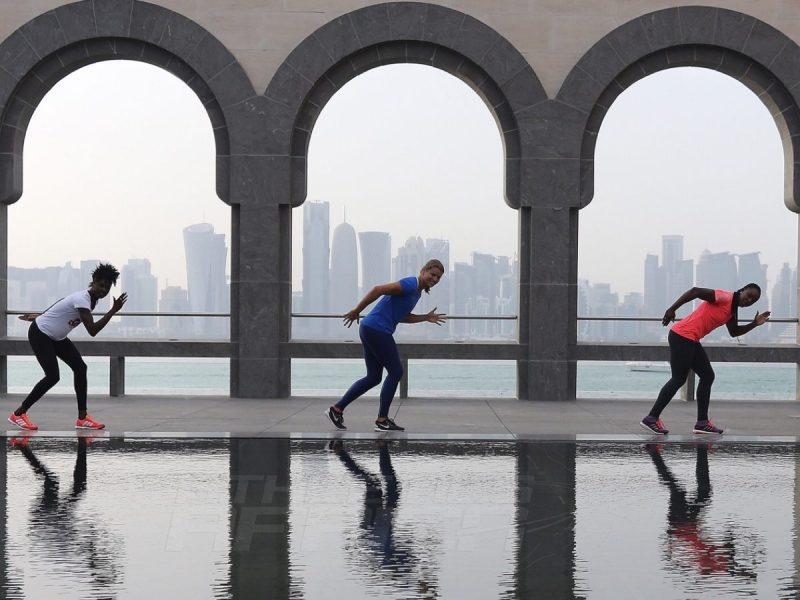 Sprinters at Museum of Islamic Arts in Doha, Qatar / Photo credit: Angelos Zymaras