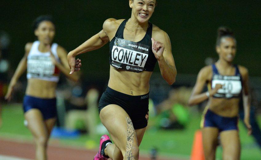 Alyssa Conley winning at the 2016 ASA Night Series in Pretoria / Photo credit: Roger Sedres