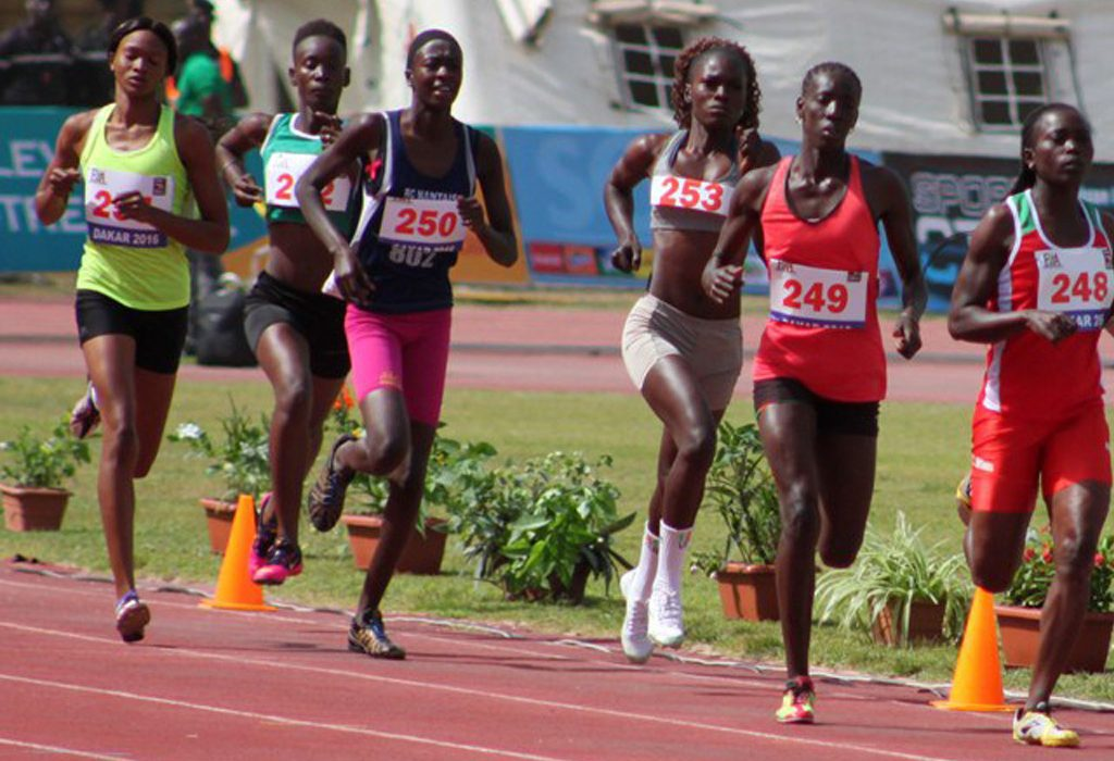 Senegalese athletes running at the Dakar Athletics Meeting